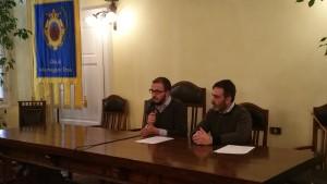 Da sinistra: Il sindaco di Salsomaggiore Filippo Fritelli e l'Amministratore unico di Emiliambiente Emiliano Occhi.