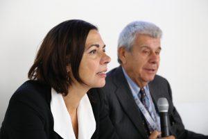 L'assessore regionale all'Ambiente Paola Gazzolo e Andrea Cirelli, del comitato scientifico di H20.